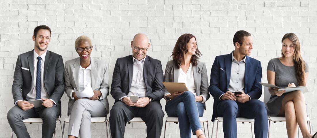 Multi-generational workforce sitting together