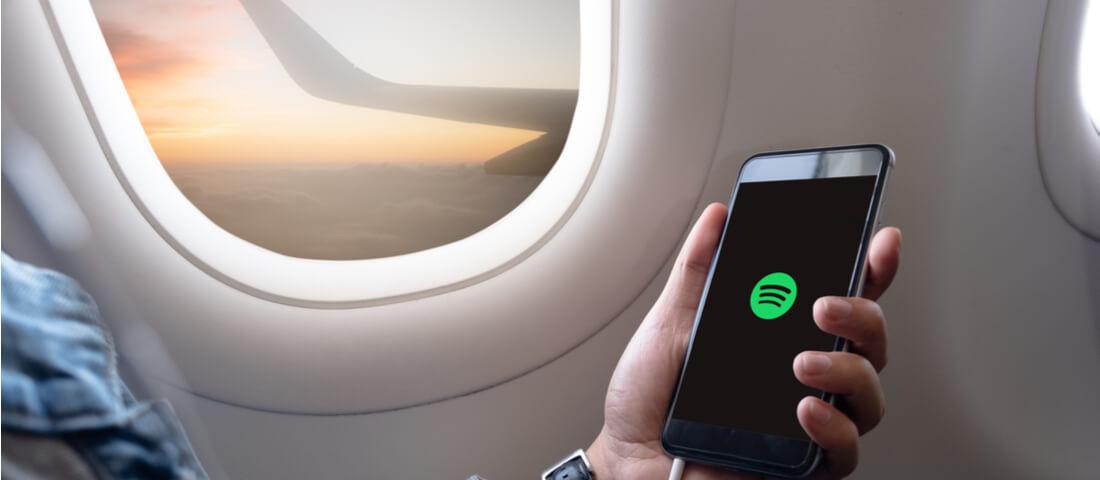 Spotify on a plane