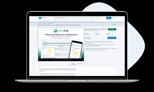 Screenshot of SalesTrip on the AppExchange