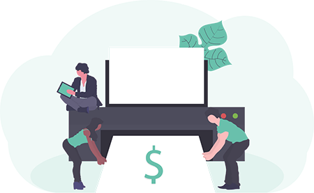 Printing an expense report illustration