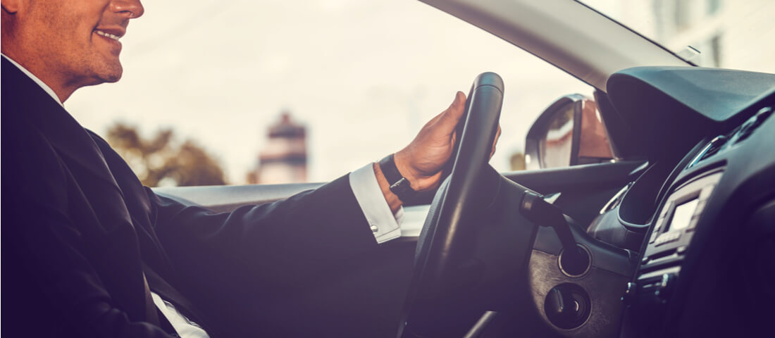 Business man driving
